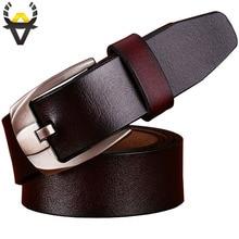 Men's Pin buckle Genuine Leather Belt