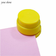 1PCS Korean Stationery Mini Stapleless Stapler ABS Plastic Paper Binding Binder Paperclip Without Staple Office Storage