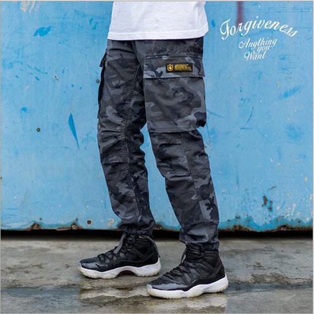 Para hombre otoño invierno pantalones de uniforme de los hombres pantalones de camuflaje pantalones rectos cómodo pantalones joggers pantalones casuales para hombres