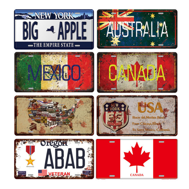 Retro Licence Plate Tin Sign Painting Car Licence Plate Antique Poster Bar Pub Signs Plaque Wall  sc 1 st  AliExpress.com & Retro Licence Plate Tin Sign Painting Car Licence Plate Antique ...