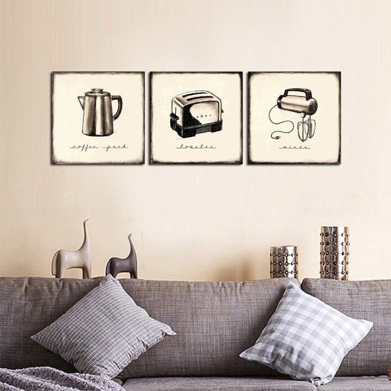 Hot saels 3 Panelen Pictures over Toastes en Mengt Op Canvas Decor ...