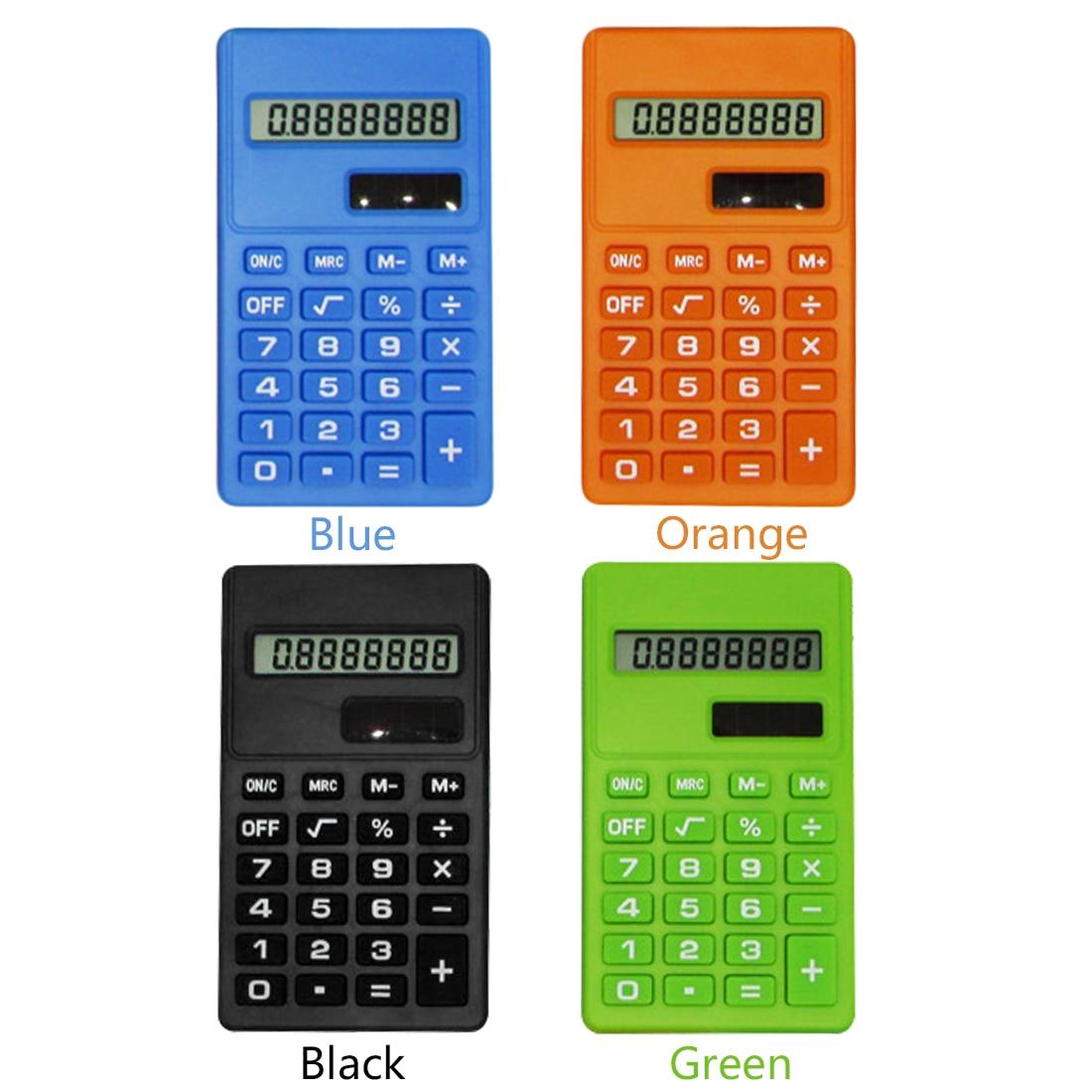 Etmakit Del Fumetto Mini Calcolatrice 8 Cifre Del Display Doppia Alimentazione Sveglio Della Caramella Calculadora Solare Hesap Calculatrice