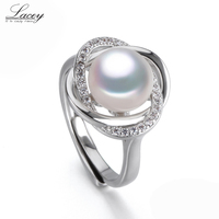White Natural Pearl Rings For Women Freshwater Pearl Ring Sterling Silver 925 Mother Of Pearl Jewelry