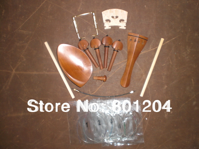 New JUJUBE Violin Fitting 4 4 with Bridge Sound post Violin String Chin rest screw and