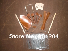 New JUJUBE Violin Fitting 4/4 with Bridge, Sound post, Violin String, Chin rest screw and Tail gut