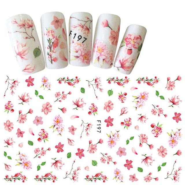 Hot Fashion 1 Sheet Light Color Flower Pattern Sticker Nail Art