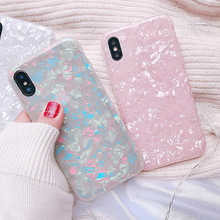 Luxury Shining Shell Soft TPU Phone Case For iPhone X 6 6S Plus 7 7Plus 8