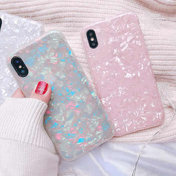 Luxury Shining Shell Soft TPU Phone Case For iPhone X 6 6S Plus 7 7Plus 8 8Plus Bling Soft IMD lovely Conch Shell Back Cover - DISCOUNT ITEM  0% OFF All Category