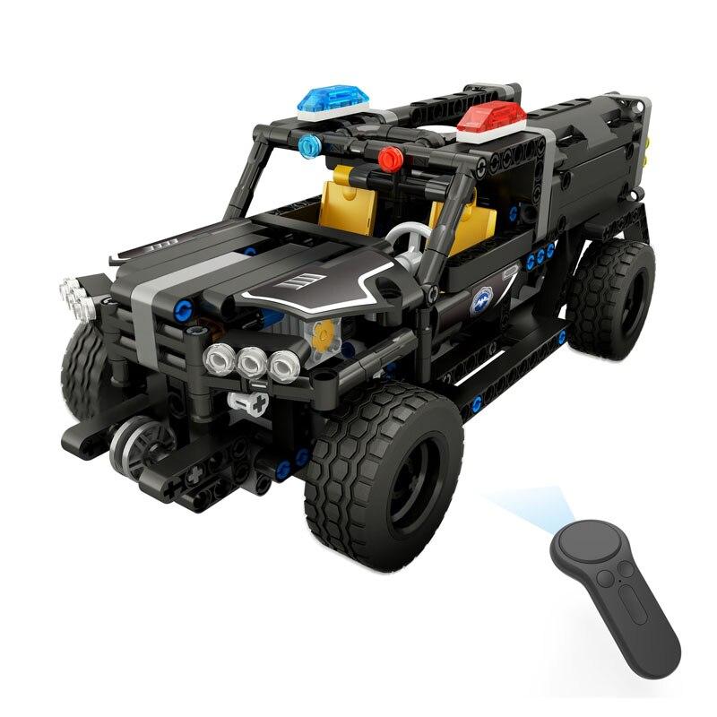 SWAT Police camion blocs de construction Kit canon à eau camion assemblage télécommande voiture blocs briques jouets pour enfants enfants