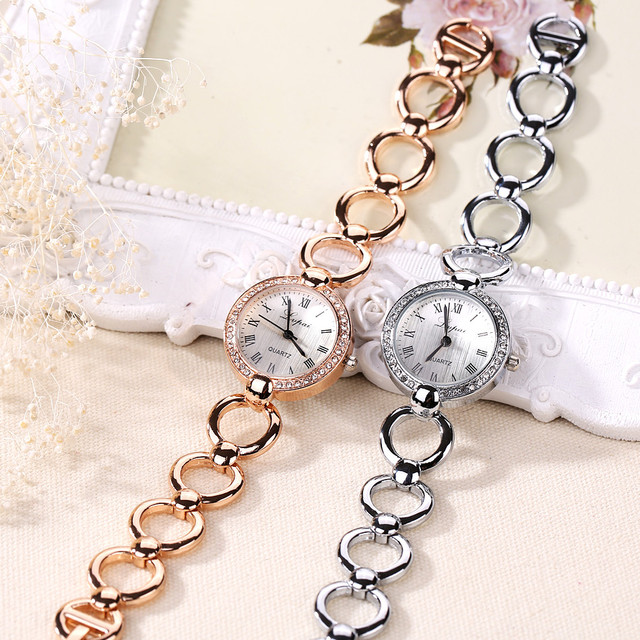 LVPAI New Brand Women Crystal Dress Watch Bracelet Watch Luxury Casual Women Fashion Alloy Wrist Watch Fashion Quartz Watch Gift