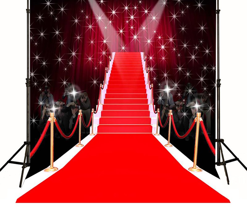 Hollywood Red Carpet Backdrops Vinyl Cloth High Quality