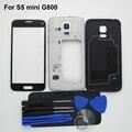 S5 mini (одиночная карта) корпус Рамка Case ближний рамка Для Samsung Galaxy S5 mini & назад case & Переднее стекло и клей и инструмент