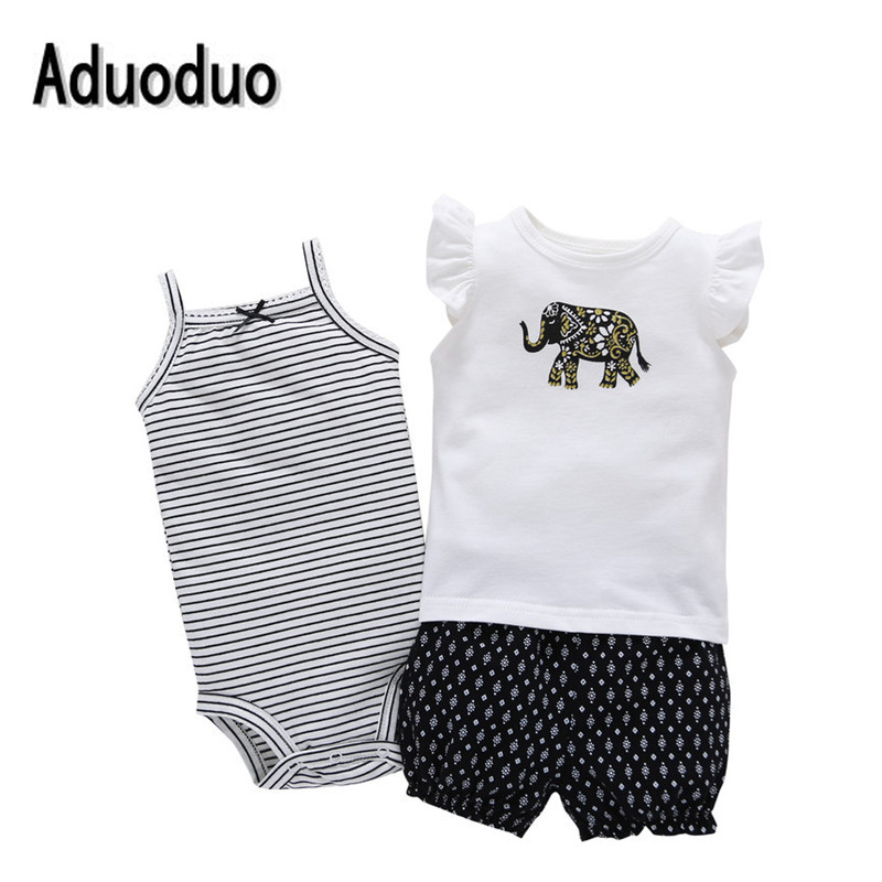 2016 baby girl summer clothes,roupa de bebe menino infant clothing 3 pcs sets children clothing kids clothes Vest rompers roupa de bebe cartoon animal short sleeve romper hat 2pcs set summer baby boy clothes baby girl clothing cow panda zebra lion