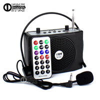 Top Quality Outdoor Portable Voice Amplifier Megaphone Mini Speaker USB Wireless FM Radio MP3 Player Loudspeaker