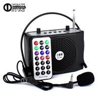 Outdoor Megaphone Portable Power Amplifier Mini Speaker USB TF Card Radio FM MP3 Music Player Loudspeaker & Headset Microphone