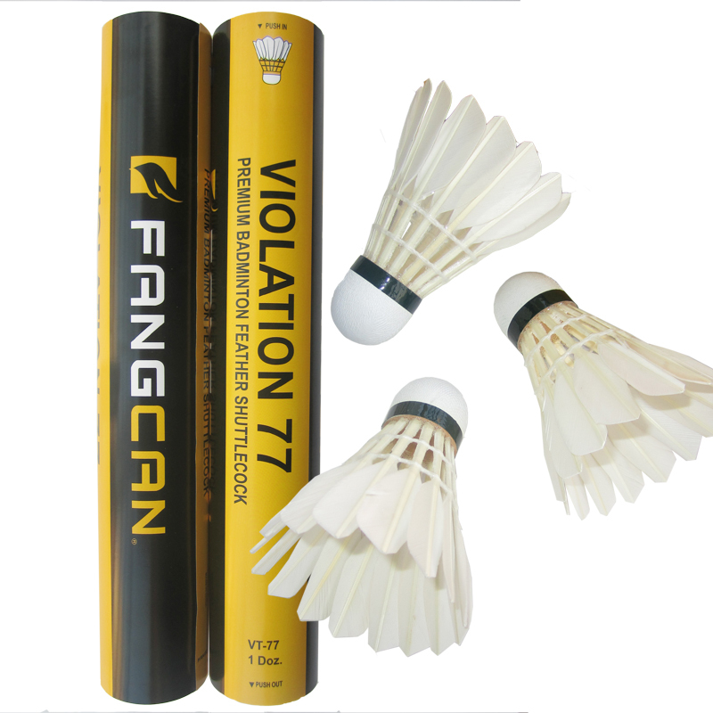 1 tubo all'ingrosso FANGCAN Duck Feather Training Shuttlecock Speed ​​76/77
