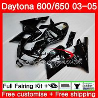 Body For Triumph Daytona 650 600 02 03 04 05 Glossy black Daytona600 86SH3 Daytona650 Daytona 600 2002 2003 2004 2005 Fairings