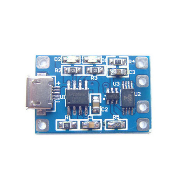 5pcs/lot TP4056 Charge And Discharge Protection Module Over Current Over Voltage Protection 18650 MicroUSB