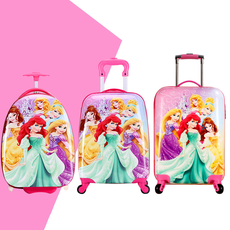 Girls Snow White Suitcase On Wheels/Children Princess Hardside ...