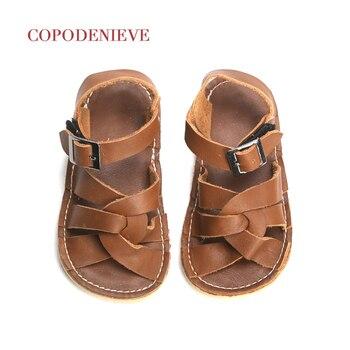 COPODENIEVE nouveau été enfants en cuir véritable sandales évider filles sandales résistant à l'usure enfants chaussures bébé enfant en bas âge
