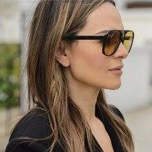 MARC Sunglasses Mirror Plastic SunGlasses Brand Designer Women Pilot Men 2018New Shades Top Fashion Eyewear Yellow