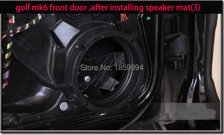 """VW Volkswagen EOS Front /& Rear Door Speaker Adaptor Rings Spacers 165mm 6.5/"""""""