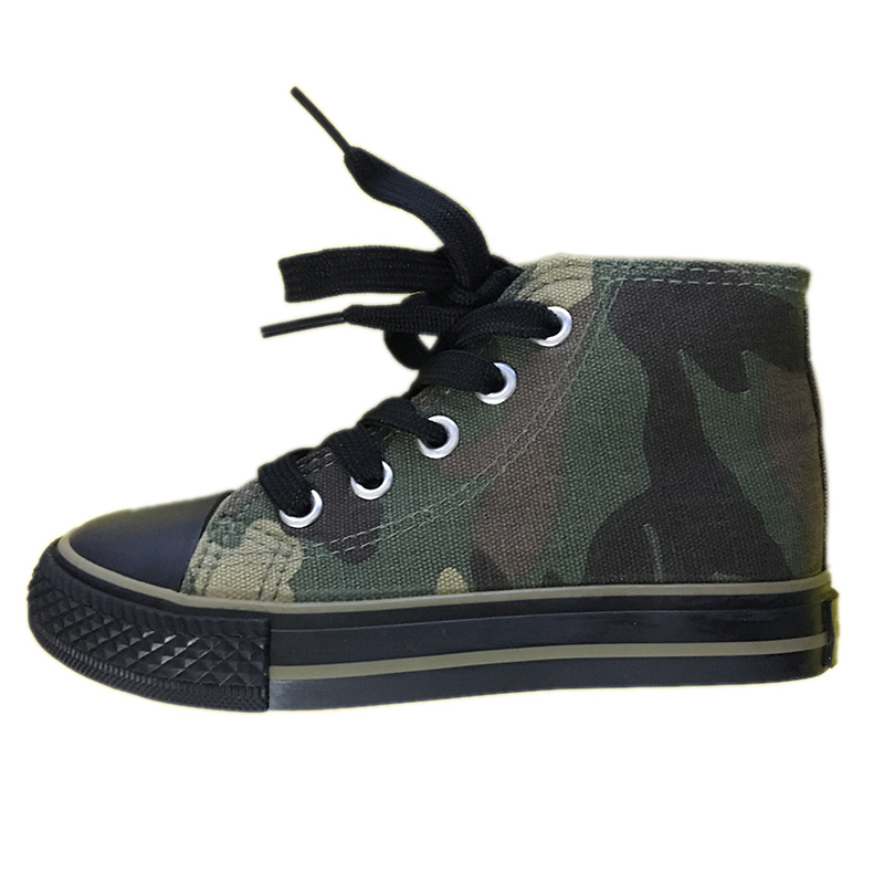 2017 New Brand Boys Casual Shoes Army Green Fashion Children's Boots Cool Boy/Girl Outdoor Military Camouflage Footwear A06161