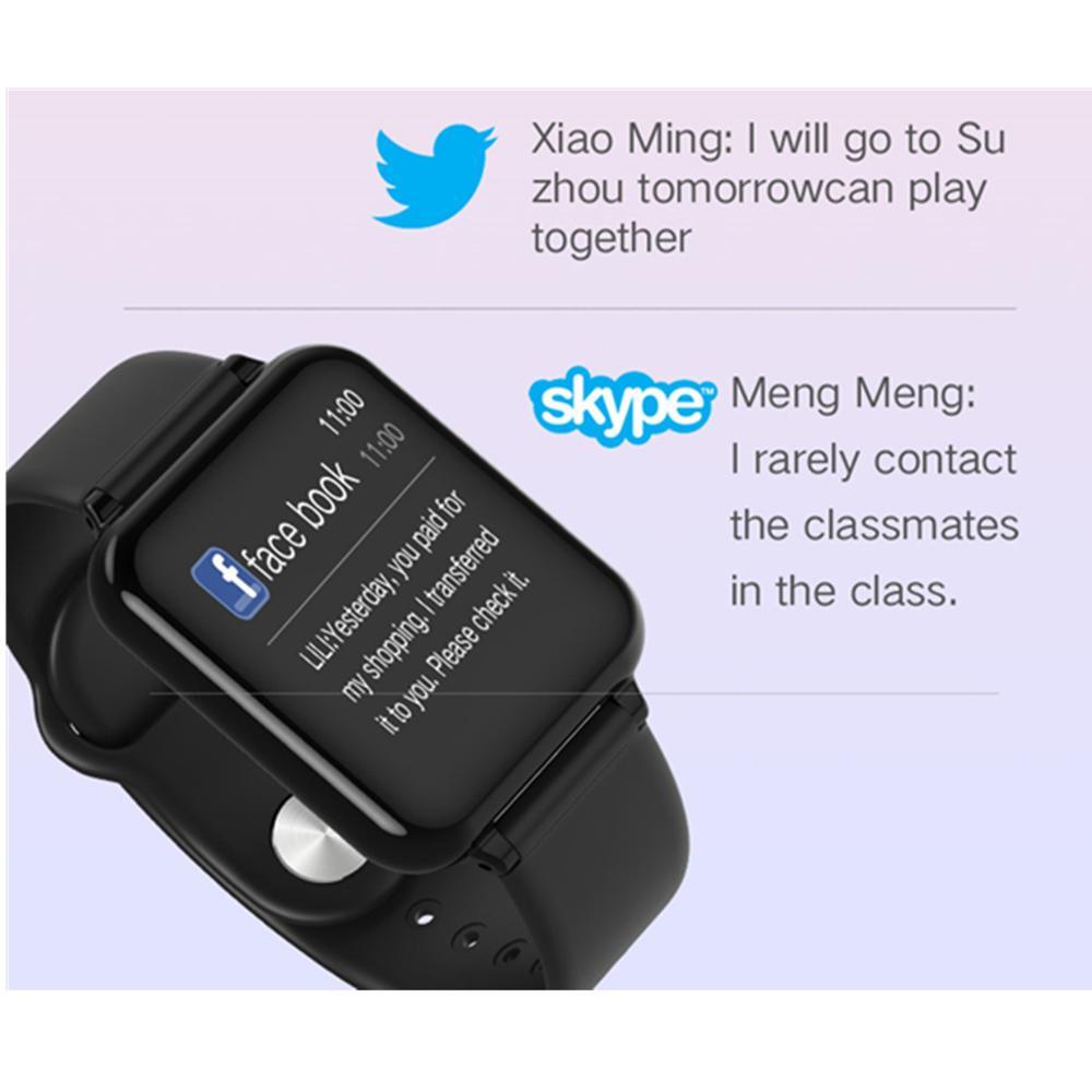 696 B57 smart watch IP67 waterproof smartwatch heart rate monitor multiple sport model fitness tracker man women wearable 3