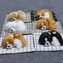 Мини плюшевая имитация Спящая Собака Щенок приборная панель украшение интерьера домашний Декор Аксессуары для мебели