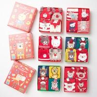Caramella2017 Winter Lady Christmas Gift Box Socks Women Red Series New Year Cotton Funny Cute Kawaii