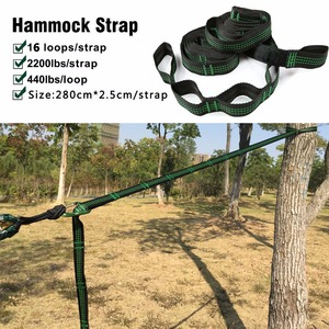 Image 4 - Solid Color Parachute Hammock with Hammock straps and Aluminum carabiner Camping Survival travel Double Person outdoor furniture