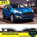 Асту стайлинга автомобилей 12 СВЕТОДИОДНЫХ Автомобилей Стайлинг DRL Для Ford Fiesta 2013 2014 2015 Дневные Ходовые огни с Затемнением 100% водонепроницаемый