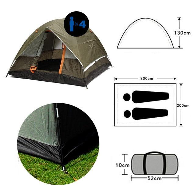 אוהל מחנאות לארבעה אנשים 2