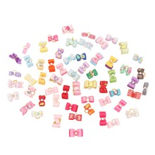 20pcs/50pcs Wholesale Dog Bows Multi Colors Ribbon for Long Hair Pets Accessories Grooming Products