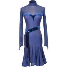 Прозрачные платья для латино-американских танцев Самба костюмы черный латинских танцев латино-американских танцев сальса платье латинские танцы Конкурс платье, Одежда для танцев