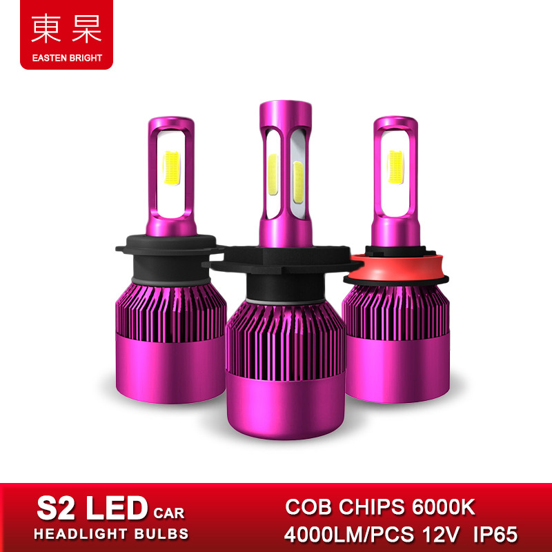 Car Headlight Bulbs Lights Kits LED 6000K 8000Lm 12V Lamps for Auto H7 H11 H1 h4 led COB Chips Headlamp Accessories Cars Styling 2x led car headlight h4 led headlight bulbs for cree chips h4 h7 h11 12v 80w 8000lm led automobiles head lamp front light