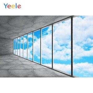 Image 1 - Yeele błękitne niebo białe chmury rama okienna fotografia wnętrza tła dostosowane fotograficzne tła dla Photo Studio