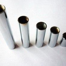 M10 Женская металлическая Резьбовая труба хромированная Резьбовая труба для освещения с обеих сторон внутренняя резьба