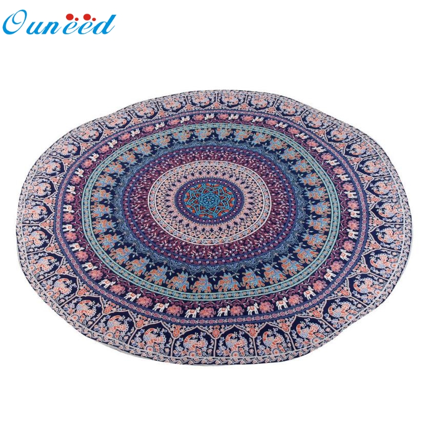 New Hot Beach towel( Serviette de plage ) 150cm Round Beach Pool Home Shower Towel Blanket Table Cloth Yoga Mat Mar731