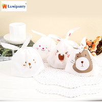 LumiParty 50 Pcs Cute Rabbit Packing Bag Food Package Cookie Candy Gift Bags For Party Favors