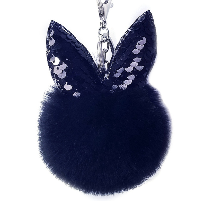 Kleidung & Accessoires Damen-accessoires Schlüsselanhänger Bommel Anhänger Ball Echt Kaninchenfell 8-cm Ringe Weich Mit Traditionellen Methoden
