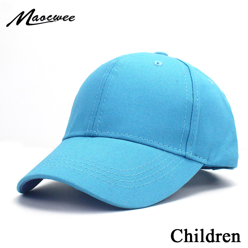 Summer Kids Solid Color Children Snapback   Caps     Baseball     Cap   With Spring Hip Hop Boy Girl Baby Hats For 3-8 Years Old Green 2019