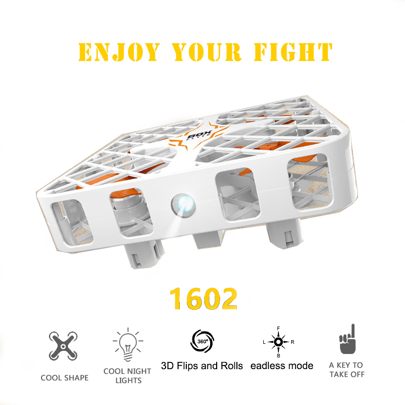 EBOYU(TM) 1602 Box Flyer 2.4G 6 Axis Gyro 3D Flip RC Helicopter Crashworthy Structure Mini RC Quadcopter Drone gold earrings for women