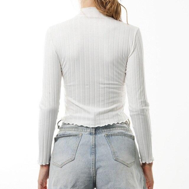 Long Sleeve Shirt Women Knitting T Shirt streetwear Crochet O Neck Wool T Shirts White Elegant T Shirts harajuku couple Tees YL