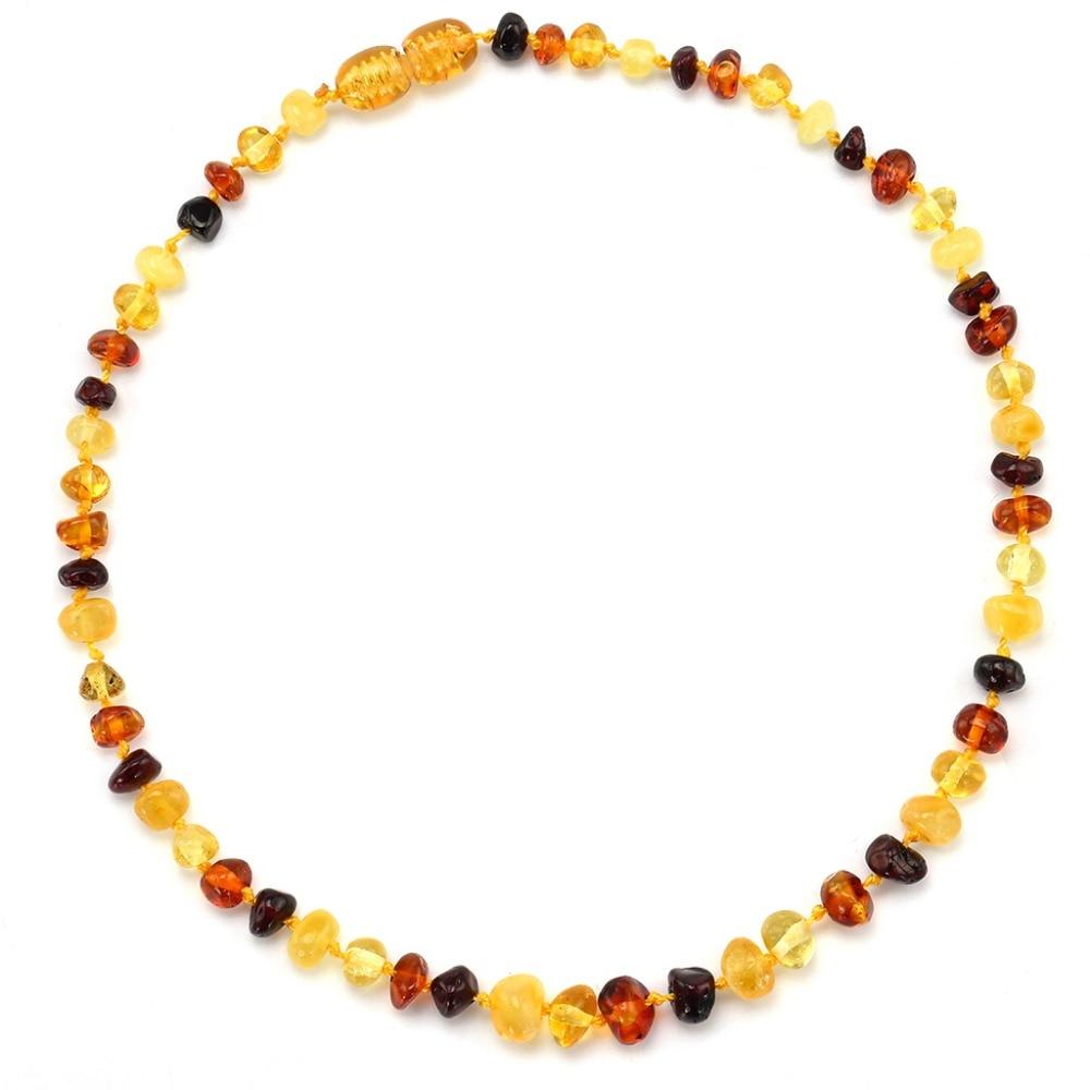Naszyjnik z bursztynem bałtyckim / bransoletka dla dziecka - prosty - Wykwintna biżuteria - Zdjęcie 3
