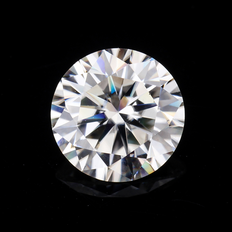 Test positive 6 0mm 0 8ct round shape EF GH moissanites loose stone for engagement ring