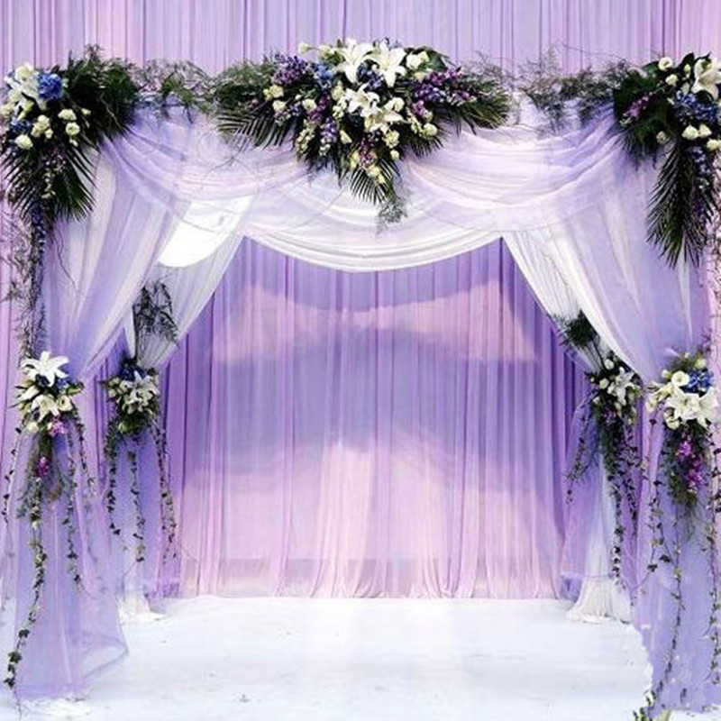 10 m / lote 48 cm Ancho Organza Tul Seda Artificial Flor de Cristal Organza de Tela Para la fiesta de bodas Decoración DIY Suministros 7Z