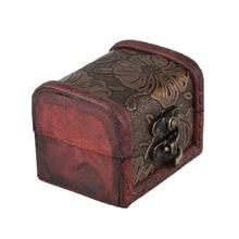 Caja expositora de joyas personales, collar, pulsera, anillos, organizador de almacenamiento, estuche de madera para almacenamiento, caja de regalo, diseño Vintage