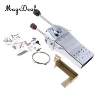 MagiDeal Marine Durable YK6 Boat Control Lever Top Mount Marine Engine Throttle Control for Kayak Canoe Boating Dinghy Yacht