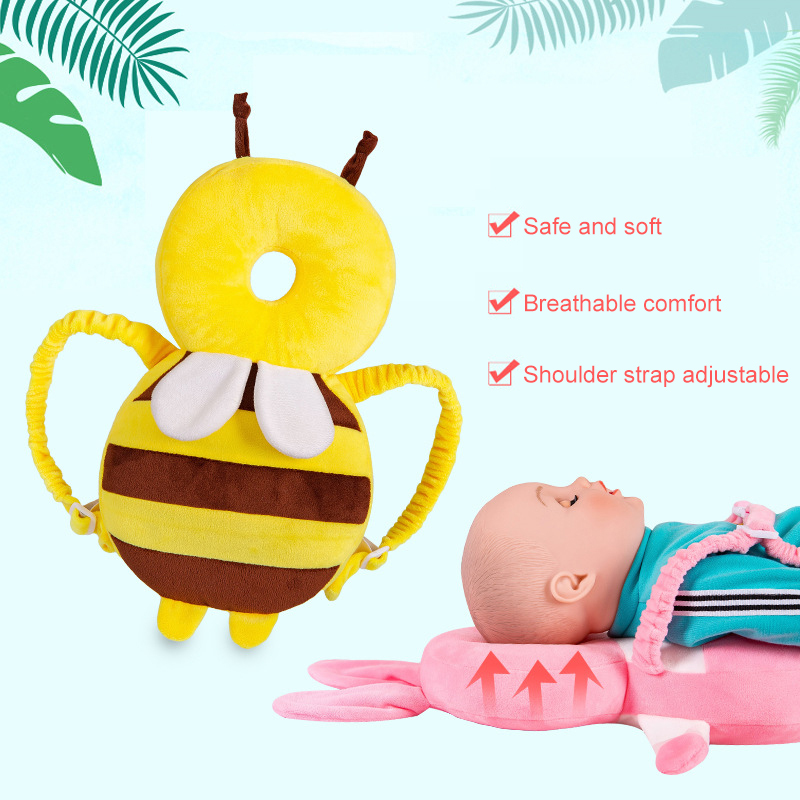 Baby Head Protection Pad Toddler Headrest Pillow Baby Neck Cute Wings Nursing Drop Resistance Cushion Baby Protect Free Delivery